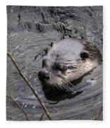 Male River Otter Fleece Blanket
