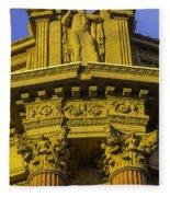 Male Statue Palace Of Fine Arts Fleece Blanket