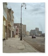 Malecon En Havana Fleece Blanket