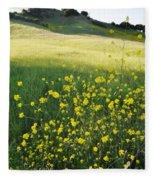 Malibu Creek Wildflowers Fleece Blanket
