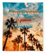 Malibu Is Paradise Fleece Blanket