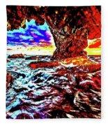 Malibu Sunset Fleece Blanket