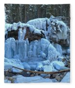 Maligne Canyon Winter Wonders Fleece Blanket