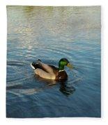 Mallarad Duck 1 Fleece Blanket