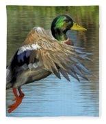 Mallard Digital Freehand Painting 3 Fleece Blanket