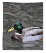 Mallard Drake Duck Fleece Blanket