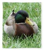 Mallard Duck #2 Fleece Blanket