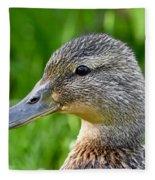 Mallard Duck Female Fleece Blanket