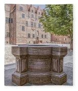 Malmohus Castle Courtyard Fleece Blanket