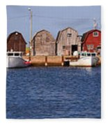 Malpeque Harbour Panorama Fleece Blanket