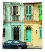 Maltase Style Doors And Windows  Fleece Blanket