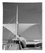Mam Wings Spread B-w Fleece Blanket