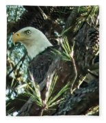 Mama Eagle  Fleece Blanket