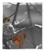 Mama Hummingbird Fleece Blanket