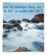 Mama, You've Always Been My Rock - Mother's Day Card Fleece Blanket