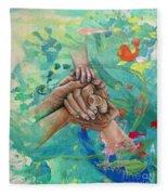 Mamma's Hands Fleece Blanket
