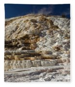 Mammouth Hot Springs Fleece Blanket