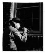 Man Breaking Into Building, C.1950s Fleece Blanket