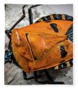 Man Face Stink Bug Fleece Blanket