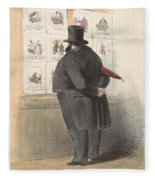 Man For A Showcase With Prints, Anonymous, 1810 - C. 1900 Fleece Blanket