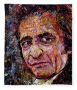 Man In Black Johnny Cash Fleece Blanket