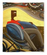 Man In Chair 2 Fleece Blanket