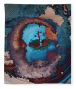 Man In The Moon Daydream Fleece Blanket