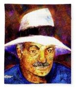 Man In The Panama Hat Fleece Blanket