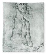 Man Of Sorrow 1522 Fleece Blanket