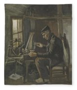 Man Winding Yarn Nuenen, May - June 1884 Vincent Van Gogh 1853  1890 Fleece Blanket