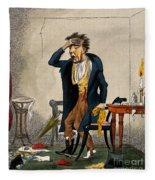 Man With Excruciating Headache, 1835 Fleece Blanket