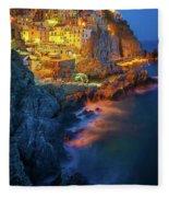 Manarola Lights Fleece Blanket