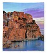 Manarola Rainbow Of Colors Fleece Blanket