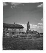Manassas Battlefield Farmhouse 2 Bw Fleece Blanket