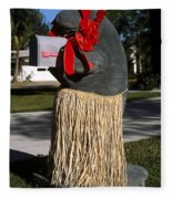 Manatee Mailbox Fleece Blanket