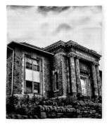 Manayunk Branch Of The Free Library Of Philadelphia Fleece Blanket
