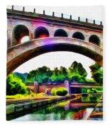 Manayunk Canal And Bridge Fleece Blanket