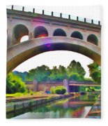 Manayunk Canal Fleece Blanket
