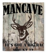 Mancave Deer Rack Fleece Blanket