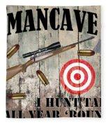 Mancave Hunt Tail Fleece Blanket