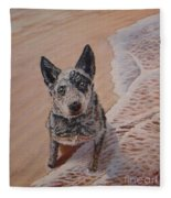 Mancha At The Beach Fleece Blanket