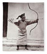 Manchu Archer, 1874 Fleece Blanket