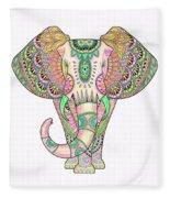 Mandala Elephant Psicodelic Fleece Blanket
