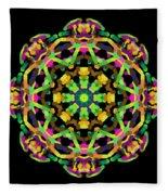 Mandala Image #14 Created On 2.26.2018 Fleece Blanket