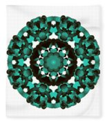 Mandala Image #5 Created On 2.26.2018 Fleece Blanket