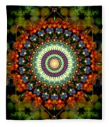 Mandala Of Loves Journey Fleece Blanket