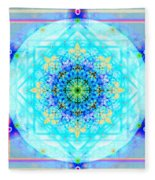 Mandala Of Womans Spiritual Genesis Fleece Blanket
