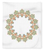Mandala/photoart Orange Flowers-1 Fleece Blanket