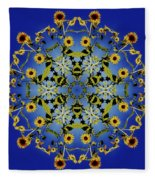 Mandala Sunflower Fleece Blanket