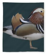 Mandarin Duck II Fleece Blanket